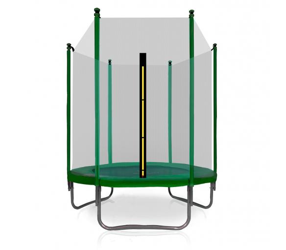 Aga SPORT TOP Trampolina ogrodowa 150 cm 5ft z siatką zewnętrzną - Dark Green