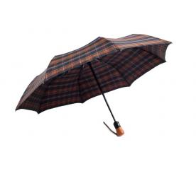 Deštník Pierre Cardin hnědomodrý skládací
