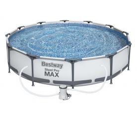 Bestway Basen stelażowy Steel Pro Max 3,66 x 0,76 m 56416 + pompa filtrująca