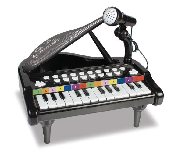 Elektronické piano s mikrofonem