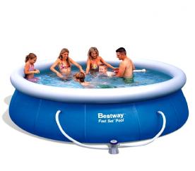 BESTWAY Fast Set puhafalú medence, szűrővel 457x91 cm
