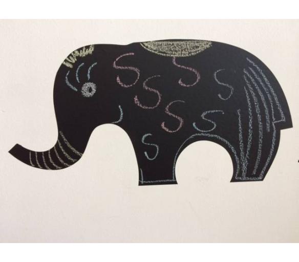 Nálepka na zeď Veselý slon - Nalepovací tabule - Nalepovací tabule