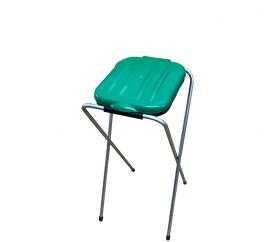 Aga Kosz stojak na worki do segregacji śmieci 1x120 l Zielony