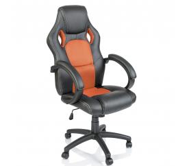 Tresko Kancelářské křeslo Racing Black - Orange