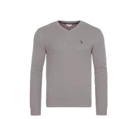 U.S. Polo ASSN. Sweter V-NECK Grey Melange