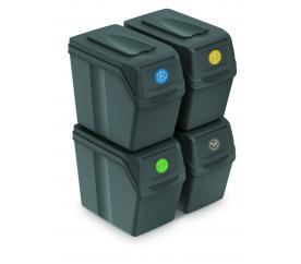 Aga Odpadkové koše SORTIBOX 4x25l Sivé