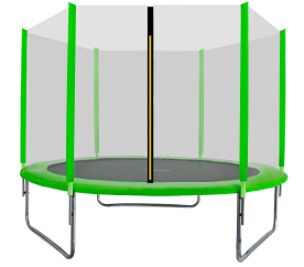 Aga SPORT TOP Trampolina ogrodowa 305 cm 10ft z siatką zewnętrzną - Light Green