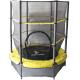 Aga Dětská trampolína 140 cm Yellow + ochranná síť