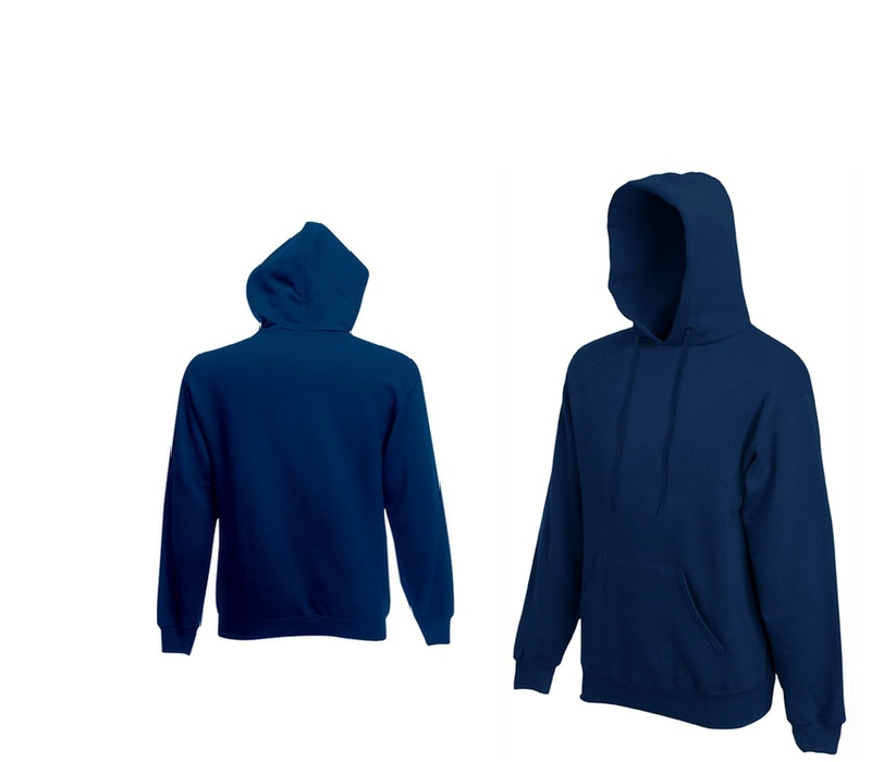 Fruit Of The Loom HOODED SWEAT Steel Blue