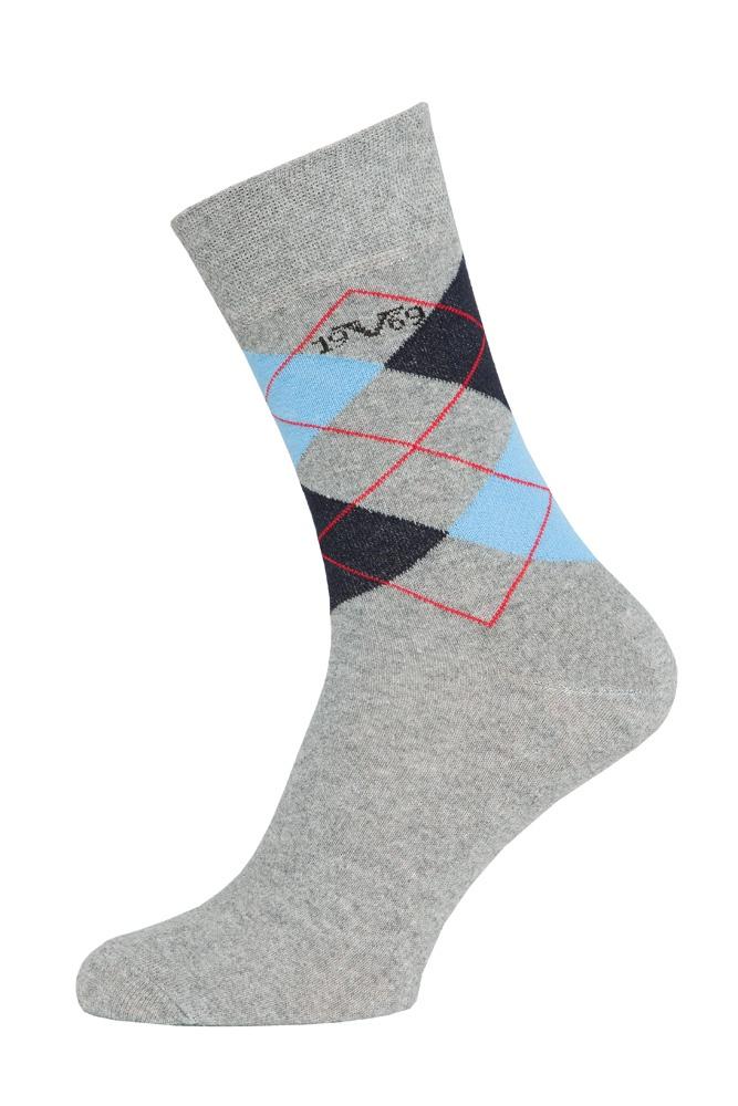 Versace 19.69 Ponožky BUSINESS 5-Pack Light Grey-Blue (C179)