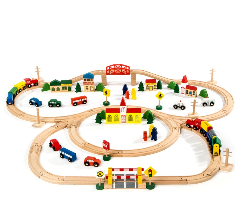 Aga4Kids Vláčkodráha BIG TRAIN SET 100