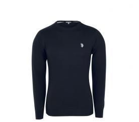 U.S. Polo ASSN. Férfi pulóver ROUND-NECK Black