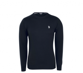 U.S. Polo ASSN. Svetr ROUND-NECK Black