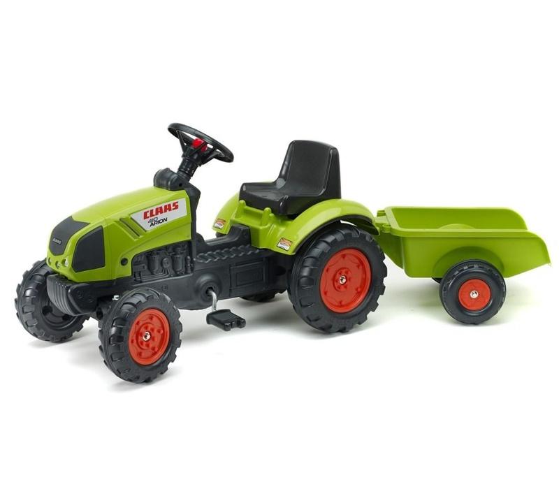 Falk Šlapací traktor CLAAS ARION 410 2040A s vlečkou