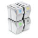 Aga Odpadkové koše SORTIBOX 4x25l Bílé