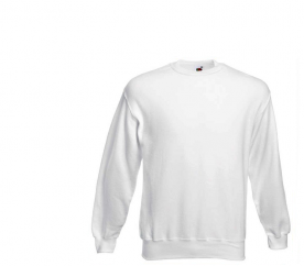 Fruit Of The Loom SET-IN SWEAT White pulóver