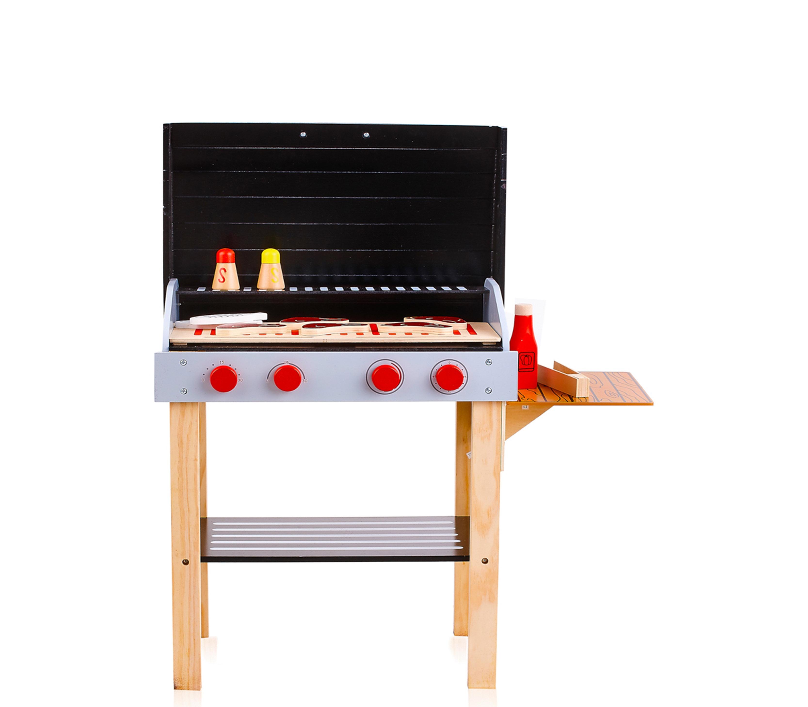 Aga4kids Dětský dřevěný gril BBQ GRILL