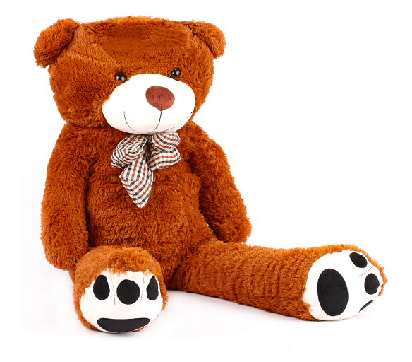 Aga4Kids Plyšový medvěd MR13003F 130 cm Hnědý