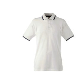 Fruit Of The Loom Tričko TIPPED POLO White Deep Navy
