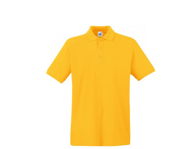 Fruit Of The Loom Tričko PREMIUM POLO Sunflower Velikost: XL