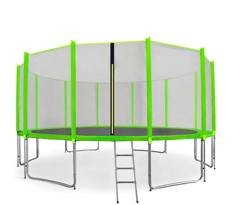 Aga SPORT PRO Trampolína 500 cm Light Green + ochranná síť  + žebřík + kapsa na obuv + krycí plachta