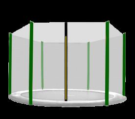Aga Ochranná síť 250 cm na 6 tyčí Black net / Dark Green