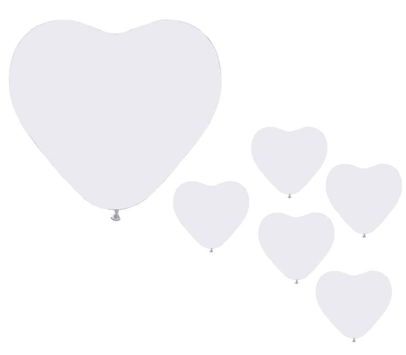 Aga4Kids Sada balóniku SRDCE White 10 ks.