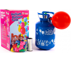 Aga4Kids Helium do balónků PARTY 30 MIX Green/Blue