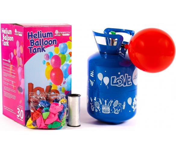 Aga4Kids Helium do balónků PARTY 30 MIX Green/Blue