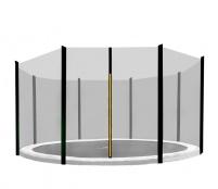 Aga Ochranná sieť 305 cm na 8 tyčí Black net/ Black