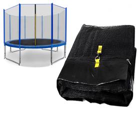 Spartan Siatka do trampoliny 366cm 12ft zewnętrzna na 8 słupków Black net / Blue