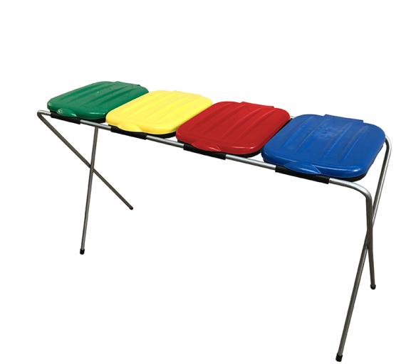 Aga Stojan na odpadkové pytle 4x120 l Žlutý, Modrý, Zelený, Červený