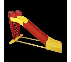 Aga4Kids Skluzavka s madlem 243 cm Červeno-žlutá