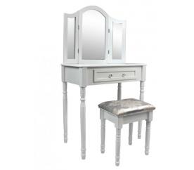 Chomik Toaletný stolík so 3 zrkadlami + taburetom