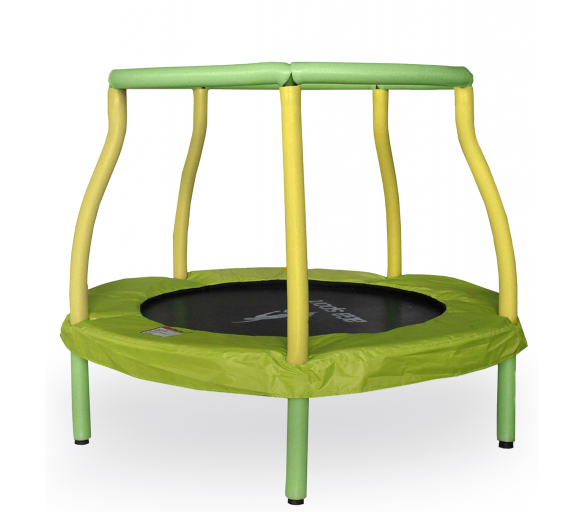 Aga Detská trampolína 116 cm Light Green/Yellow