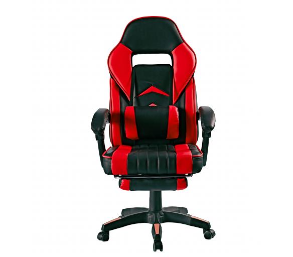 Aga Kancelářská židle Černo - Červená s opěrkou pro nohy