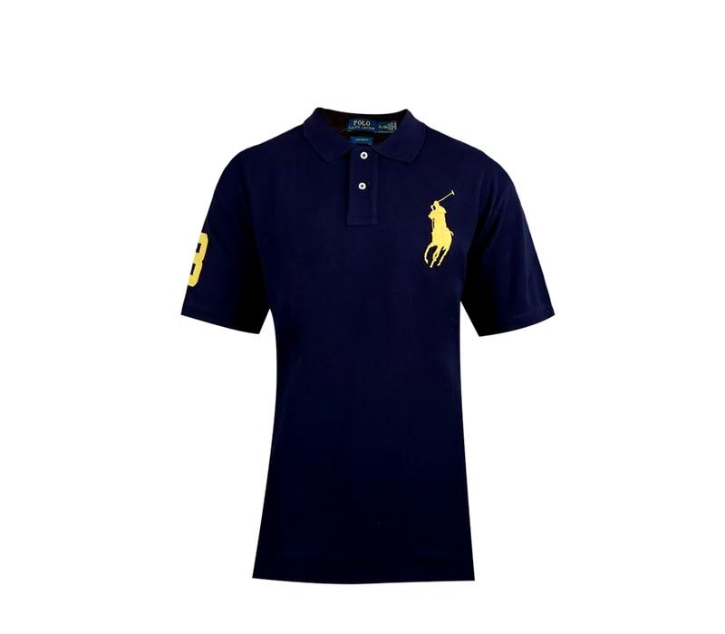 Ralph Lauren CUSTOM-FIT Casino Blue Big Pony Yellow