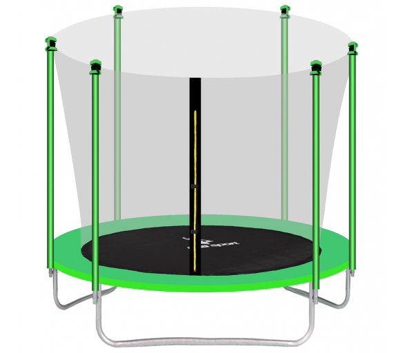 aGa SPORT FIT Trampolina ogrodowa 180cm 6ft z siatką wewnętrzną - Light Green