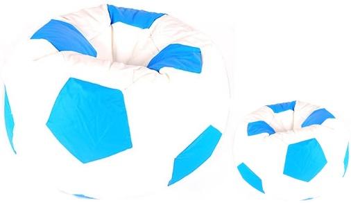 Aga Sedací vak BALL Farba: Biela - Modrá