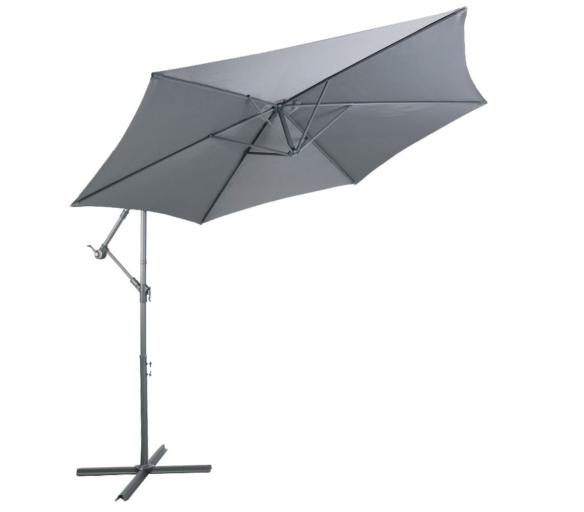 Linder Exclusiv Zahradní slunečník konzolový MC2010 300 cm Dark Grey