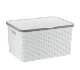 Úložný box s víkem RIO 38 L plast bílý - Kela