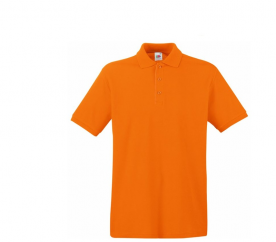Fruit Of The Loom Tričko PREMIUM POLO Orange Velikost: XXXL