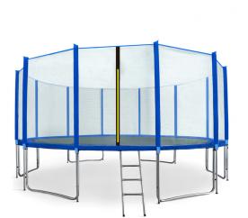 Aga SPORT PRO Trampolína 500 cm Blue + ochranná sieť + schodíky + vrecko na obuv