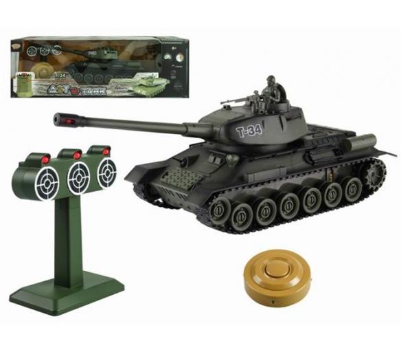 RC Russia T34 tank vs terč 1:24