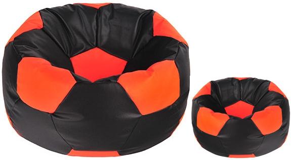 Aga Sedací vak BALL Farba: Čierna - Oranžová