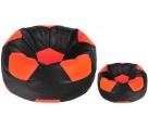 Aga Sedací vak BALL Farba: Oranžová - Čierna