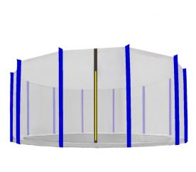 Aga Ochranná síť 488 cm na 12 tyčí Black net / Blue