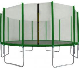 Aga SPORT TOP Trampolina ogrodowa 518 cm 17ft z siatką zewnętrzną - Dark Green