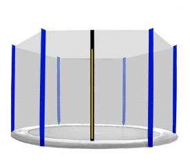 Aga Ochranná síť 250 cm na 6 tyčí Black net / Blue