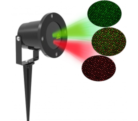 Aga Laserový LED projektor Green/Red